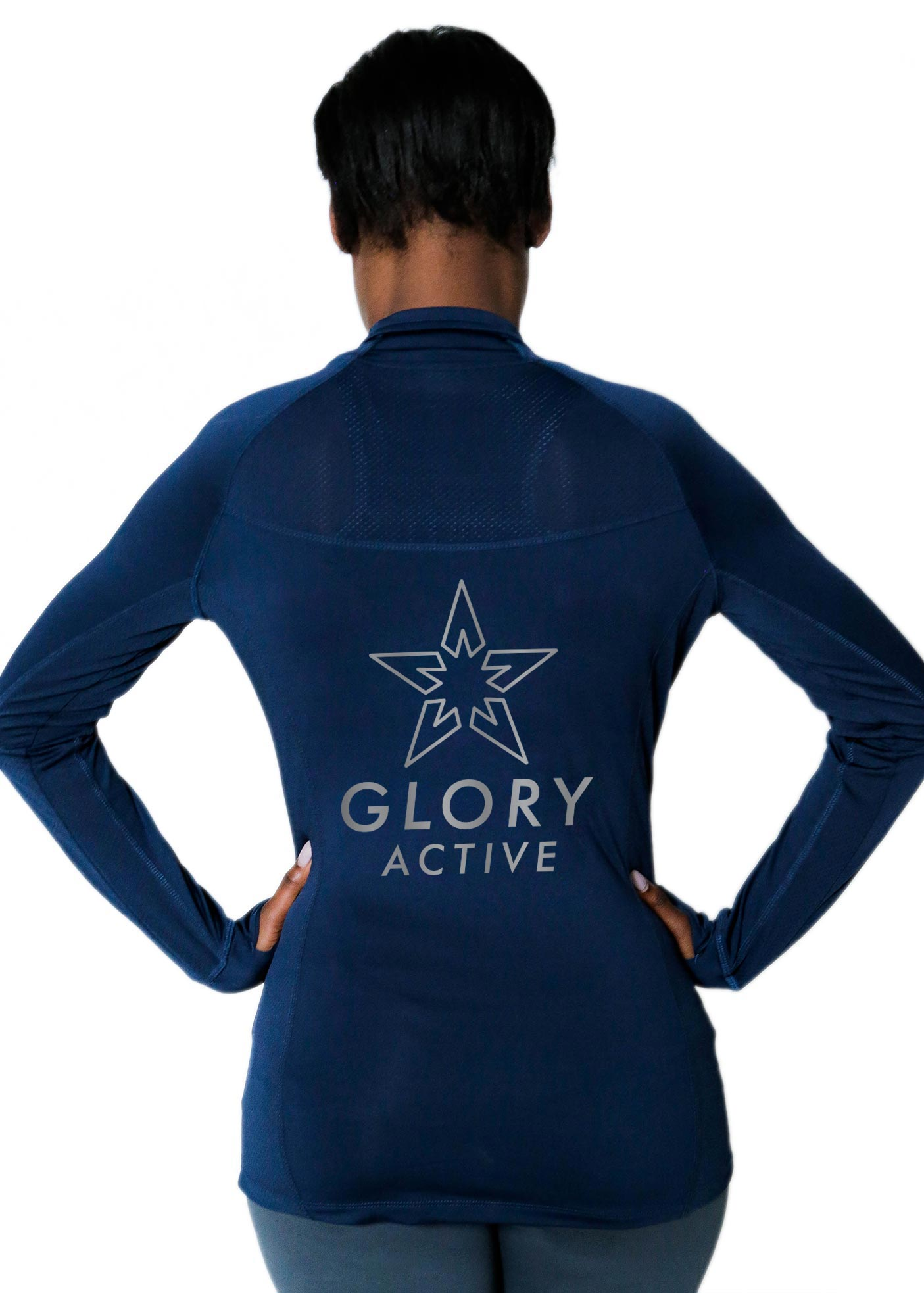 performance jacket with mesh panels glory active