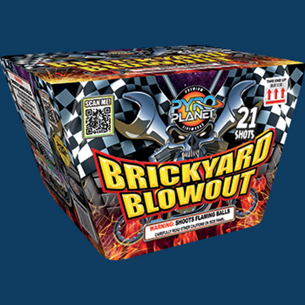 Brickyard Blowout pyroplanet