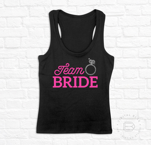 TEAM BRIDE GLITTER PLATEADO