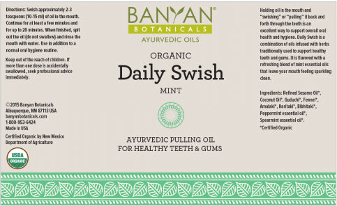 Daily Swish Oil Pulling For Healthy Teeth & Gums