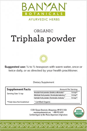 Triphala powder Balancing Formula for Detoxification & Rejuvenation*