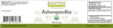 Ashwagandha powder Withania somnifera, root powder