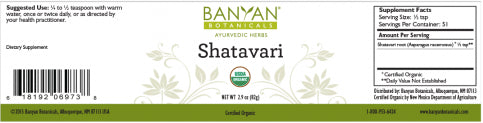 Shatavari powder Asparagus racemosus, root powder