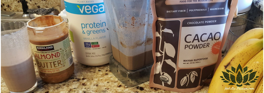 Chocolate Almond Butter Smoothie (Plant Based, Vegan, Gluten Free)