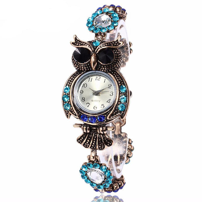 Luxury Owl Bracelet Watch