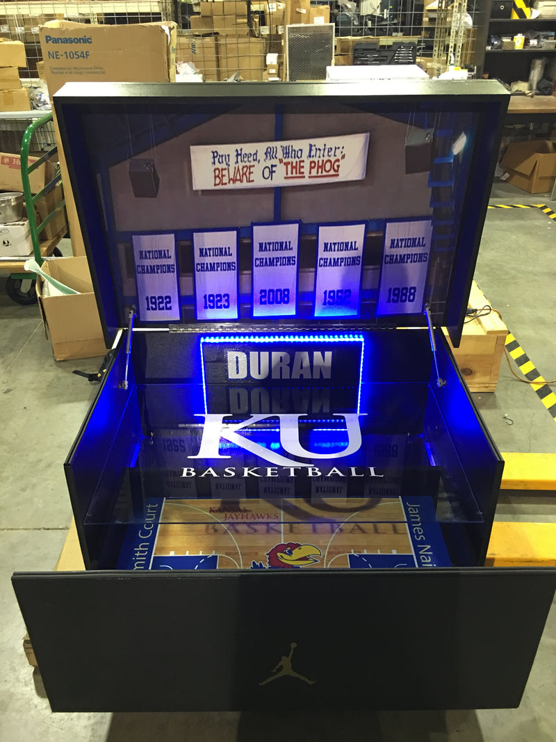 The Jayhawks Box:  Customized Giant Jordan Inspired shoe box (FREE SHIPPING)