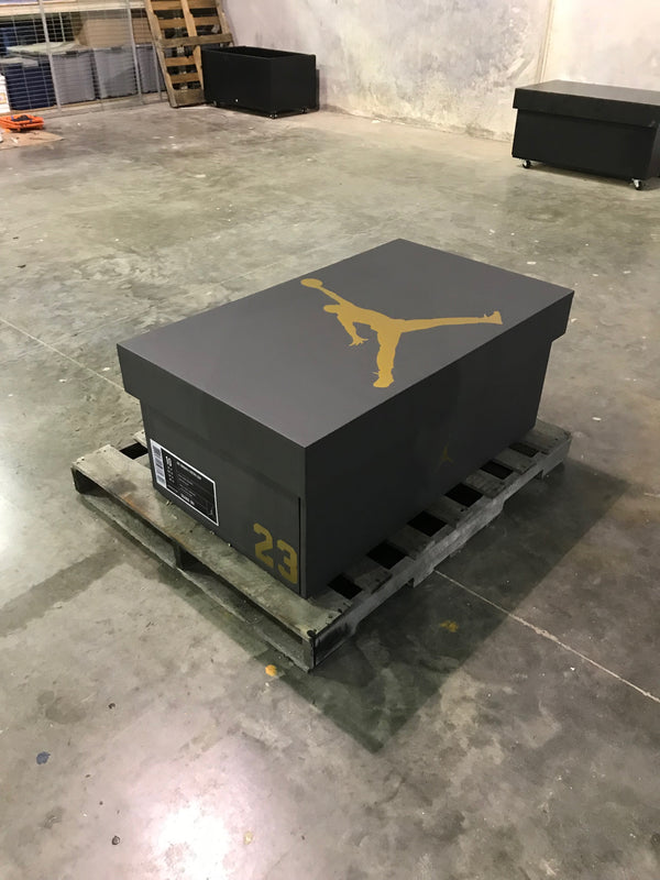 New Matte Black and Gold w/LED's Giant Jordan Shoe box (FREE SHIPPING)