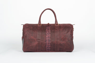 ox blood leather weekender
