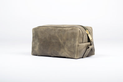 The Jarvis Dopp Kit in Olive Green