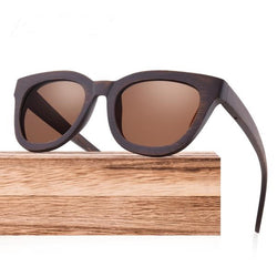 Wooden Polarized Sunglasses - Handmade w/Bamboo Frame