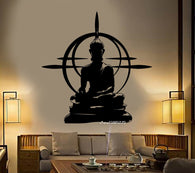 Buddha Wall Decal - Chakra Mantra Meditation Sticker/ yoga Room