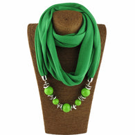 Beautiful Long Bohemia style Scarf Necklace - 10 colors