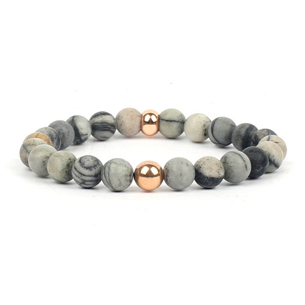 Natural Mala Stone Bracelet- Yoga Meditation