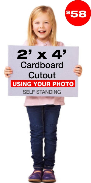 Custom Lifesize 4ft Cardboard Cutout Standee from your photo