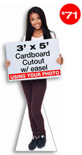5 foot tall life size cardboard cutout with easel standup standee display