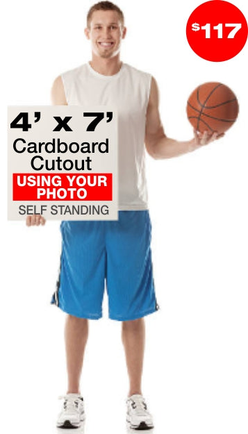 7ft Tall Custom Cardboard Cutout - Lowest Price Guarantee