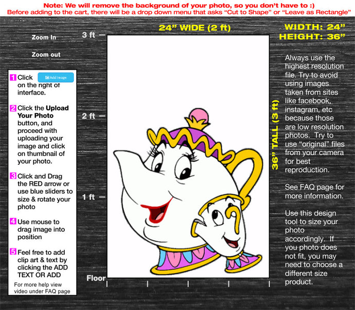 3ft Tall Custom Cardboard Cutout