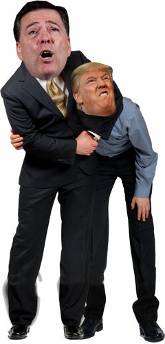 James Comey giving Trump a Headlock Headlock Life Size Cardboard Stand up Standee Cutout