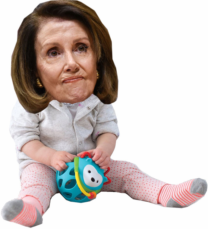 Nancy Pelosi as a Baby Life Size Cardboard Stand up Standee Cutout