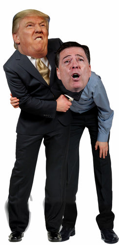 Donald Trump giving James Comey a Headlock Life Size Cardboard Stand up Standee Cutout