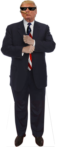 Gangster Donald Trump Life Size Cardboard Stand up Standee Cutout