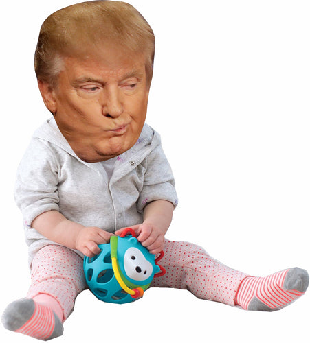 Donald Trump as a Baby Life Size Cardboard Stand up Standee Cutout