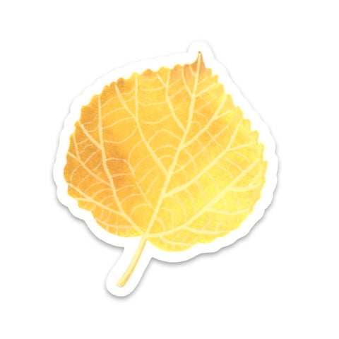 Aspen Leaf Sticker
