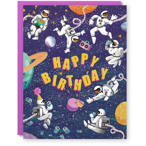 Birthday Astronauts Card