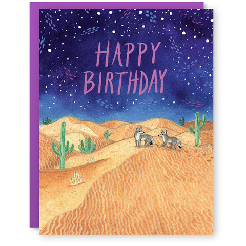 Birthday Coyote Card