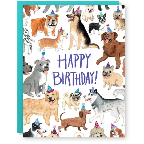 Birthday Dogs Greeting Card By CACTUS CLUB PAPER O Made In USA Cactus Club Paper