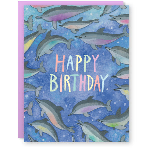Birthday Dolphins Card