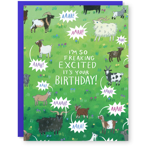 Yelling Birthday Goats Card