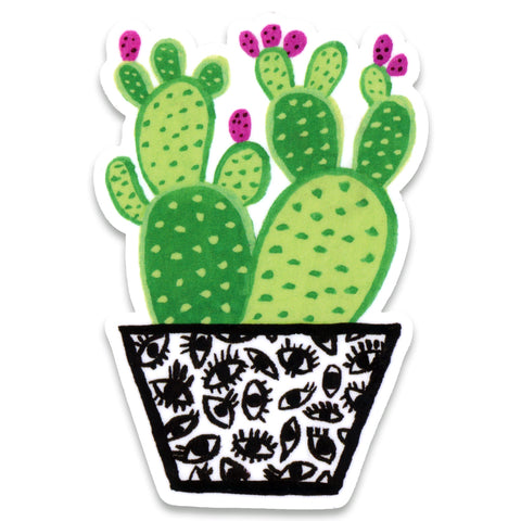 Cactus Eye Sticker