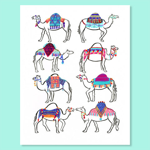 Camel Couture Print