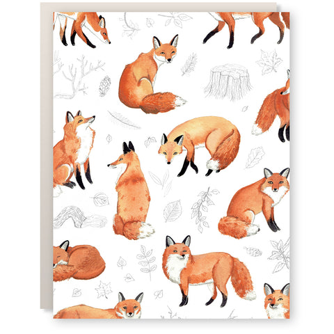 Foxes & Foliage Card