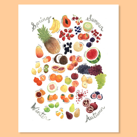 Fruit Seasonality Print
