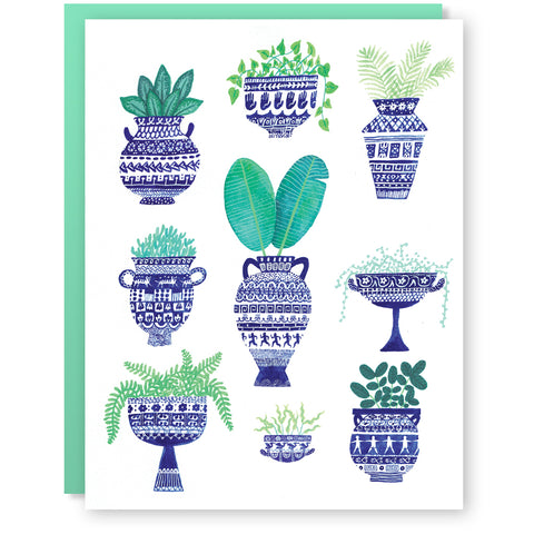Greek Greenery Card