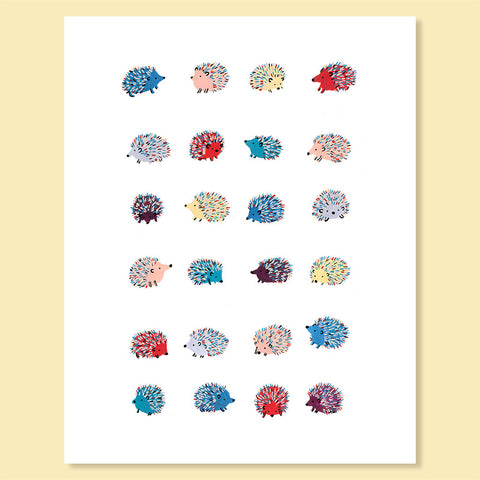 Happy Hedgehogs Print