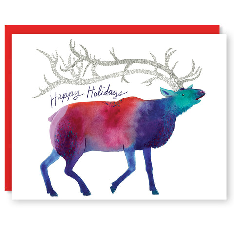 Holiday Elk Card
