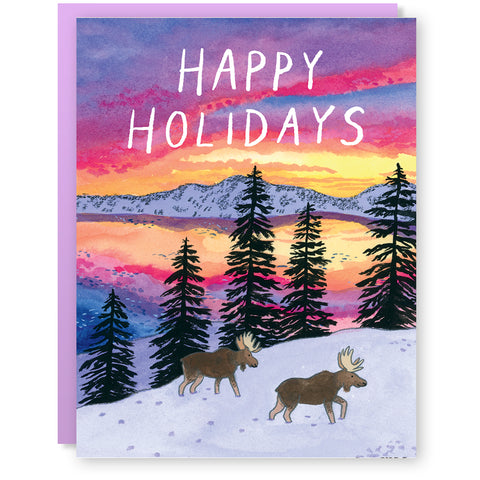 Holiday Moose Card