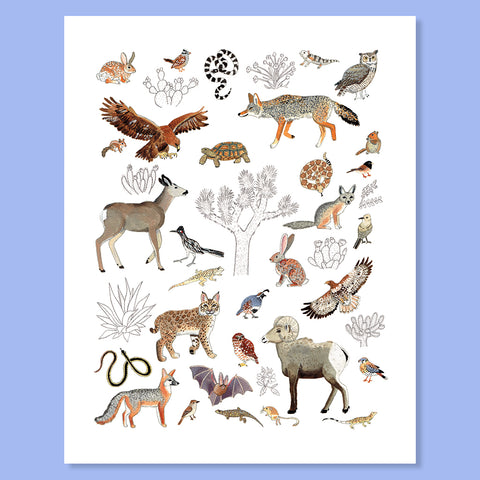 Joshua Tree Animalia Print