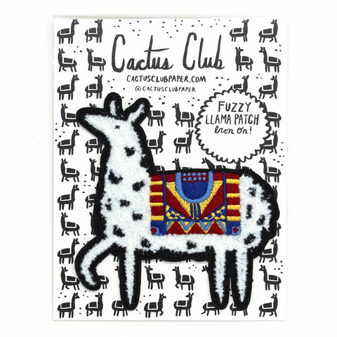 Fuzzy Llama Iron-On Patch