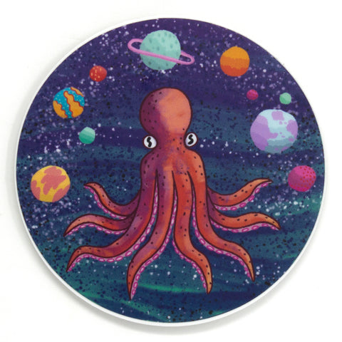 Octopi in the Sky Sticker