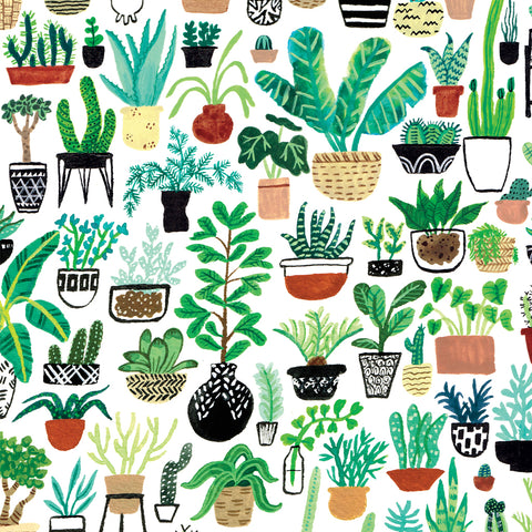 Plant Party Wrapping Sheets