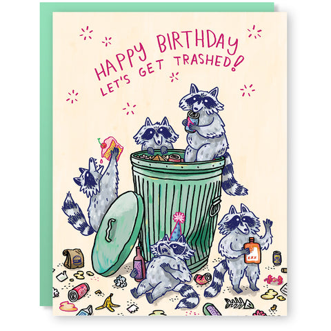 Birthday Raccoons Card