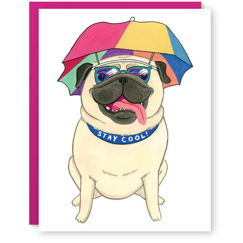 Stay Cool Pug Card