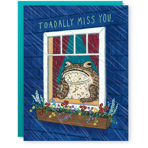 Toadally Miss You Card