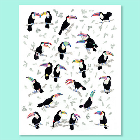 Tropical Toucans Print