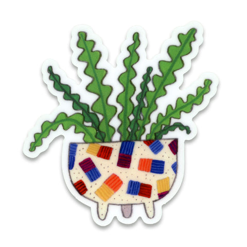 Wiggly Plant Sticker