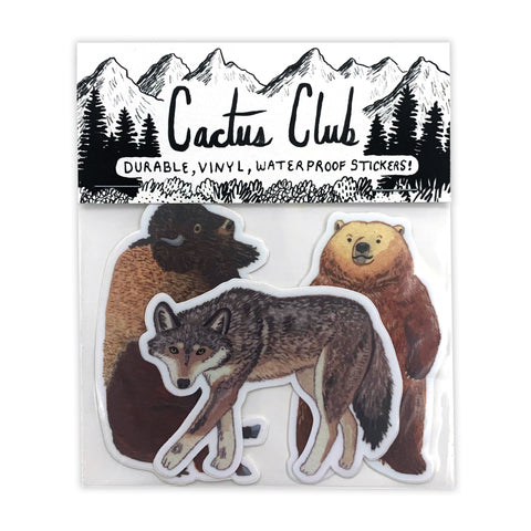 Yellowstone Animal Sticker Pack